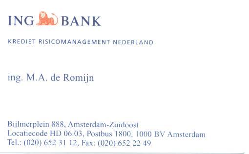 Ing Bank de Romijn salger